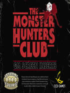 Monster Hunters Club GM Screen Inserts
