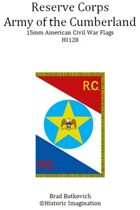 Reserve Corps Army of the Cumberland American Civil War 15mm Headquarters Flag Sheet