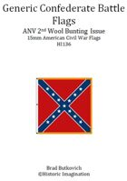 Generic Confederate ANV 2nd Wool Bunting Issue American Civil War 15mm Flag Sheet