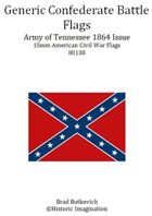 Generic Confederate Army of Tennessee 1864 Issue American Civil War 15mm Flag Sheet