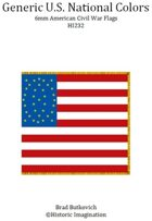 Generic U. S. National Colors American Civil War 6mm Flag Sheet