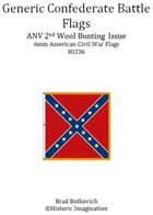 Generic Confederate ANV 2nd Wool Bunting Issue American Civil War 6mm Flag Sheet