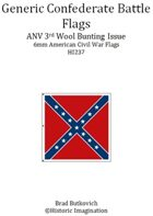 Generic Confederate ANV 3rd Wool Bunting Issue American Civil War 6mm Flag Sheet