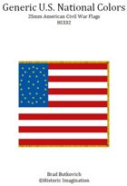Generic U. S. National Colors American Civil War 25mm Flag Sheet