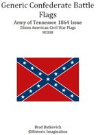 Generic Confederate Army of Tennessee 1864 Issue American Civil War 25mm Flag Sheet