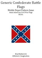 Generic Confederate Mobile Depot Pattern American Civil War 6mm Flag Sheet