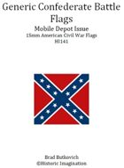 Generic Confederate Mobile Depot Pattern American Civil War 15mm Flag Sheet
