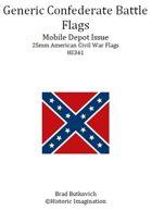 Generic Confederate Mobile Depot Pattern American Civil War 25mm Flag Sheet