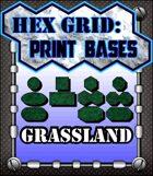 Hex Grid: Print Bases- Grassland