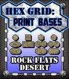 Hex Grid: Print Bases- Rock Flats Desert