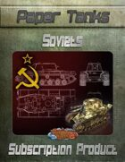 Soviet Paper Tanks - BUNDLE
