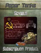 Soviet Paper Tanks - BUNDLE