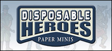 Disposable Heroes Paper Minis