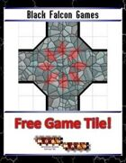 Blue Mosaic Dungeon: Basic Set (2 square Hallways) - Free-4-All Tile