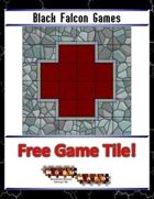 Blue Mosaic Dungeon: Basic Set (4 square Hallways) - Free-4-All Tile