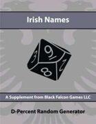 D-Percent - Irish Names
