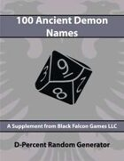 D-Percent - 100 Ancient Demon Names
