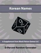 D-Percent - Korean Names
