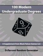 D-Percent - 100 Modern Undergraduate Degrees