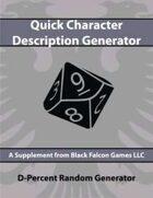 D-Percent - Quick Character Description Generator