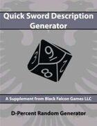 D-Percent - Quick Sword Description Generator