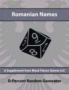 D-Percent - Romanian Names