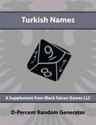 D-Percent - Turkish Names