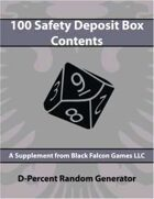 D-Percent - 100 Safety Deposit Box Contents