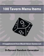 D-Percent - 100 Tavern Menu Items