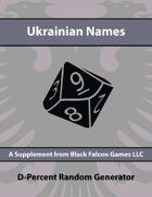 D-Percent - Ukrainian Names