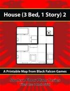 Modern Floor Plans - House (3Bed, 1 Story) 2