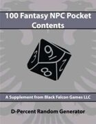 D-Percent - 100 Fantasy NPC Pocket Contents