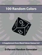 D-Percent - 100 Random Colors