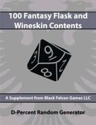 D-Percent - 100 Fantasy Flask and Wineskin Contents