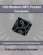 D-Percent - 100 Modern NPC Pocket Contents
