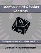 D-Percent - 100 Modern NPC Pocket Contents