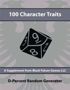 D-Percent - 100 Character Traits