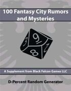 D-Percent - 100 Fantasy City Rumors and Mysteries