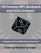 D-Percent - 100 Fantasy NPC Backpack and Sack Contents