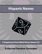 D-Percent - Hispanic Names