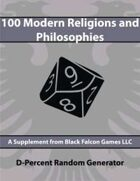 D-Percent - 100 Modern Religions and Philosophies