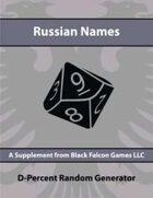 D-Percent - Russian Names