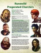 Runewild Pregenerated Characters