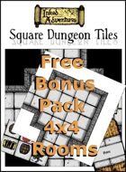 FREE Inked Adventures Square Dungeon Tiles 4x4 Rooms Bonus Pack