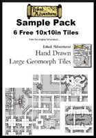6 Free Sample Hand Drawn Large Geomorph Tiles