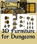 Inked Adventures: 3D Furniture For Dungeons