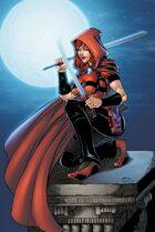 Scarlet Huntress rooftop