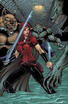 Scarlet Huntress sewer print