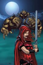 Scarlet Huntress and werewolves