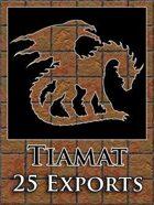 Tiamat 25 Map Exports